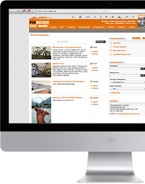 Markt Mountain-Bike online - Screenshot